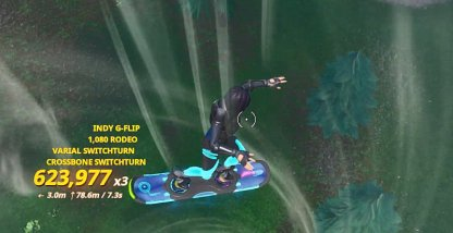 Score 250,000 trick points with a Driftboard with Neon Tropics applied to it