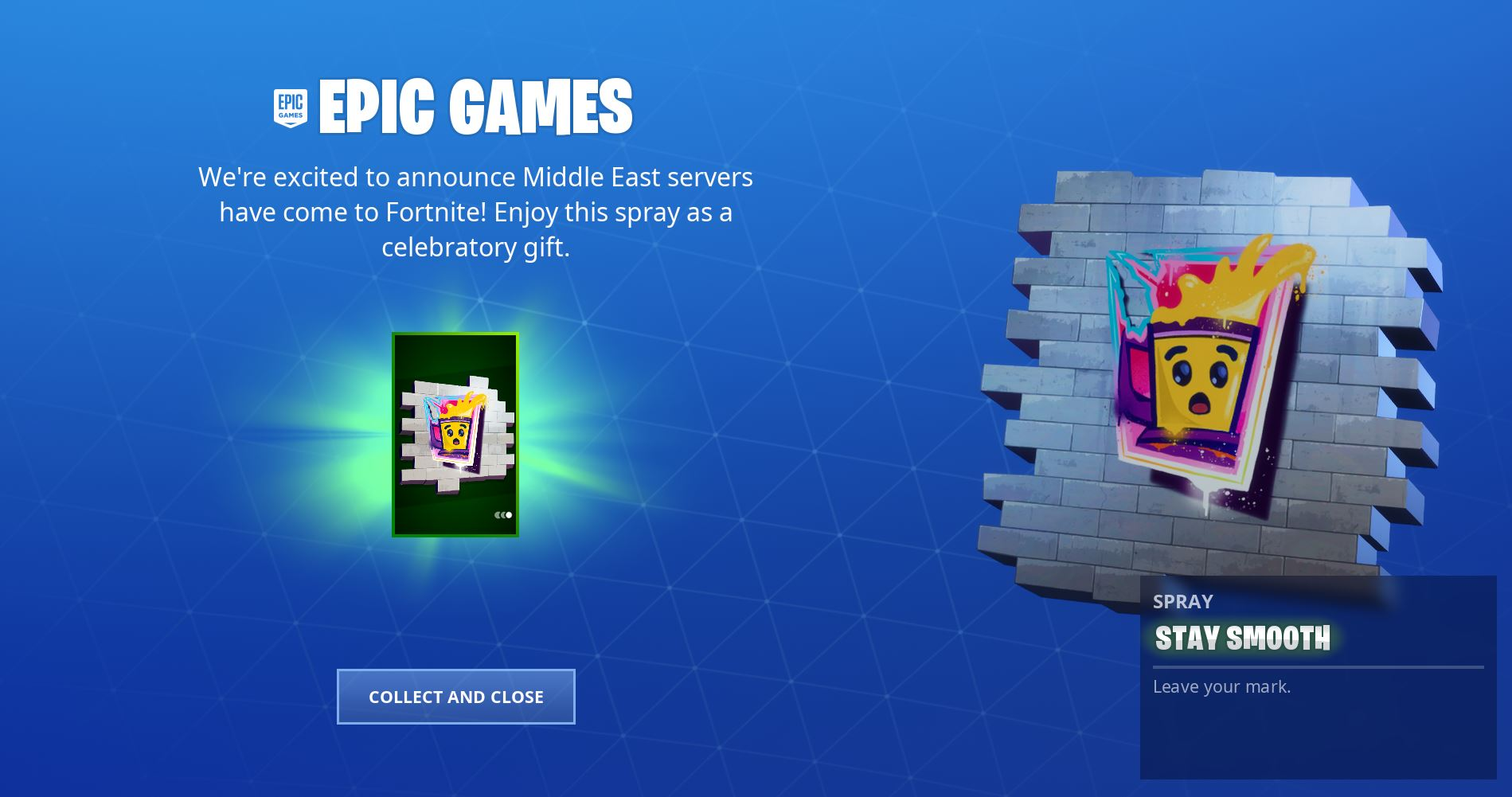 Epic Games Providing Free Fortnite Stay Smooth Spray to all