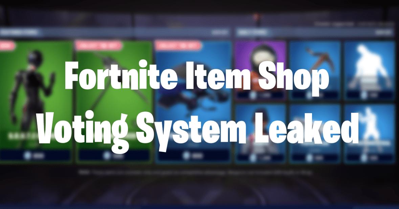 Fortnite Item Shop Voting System Leaked