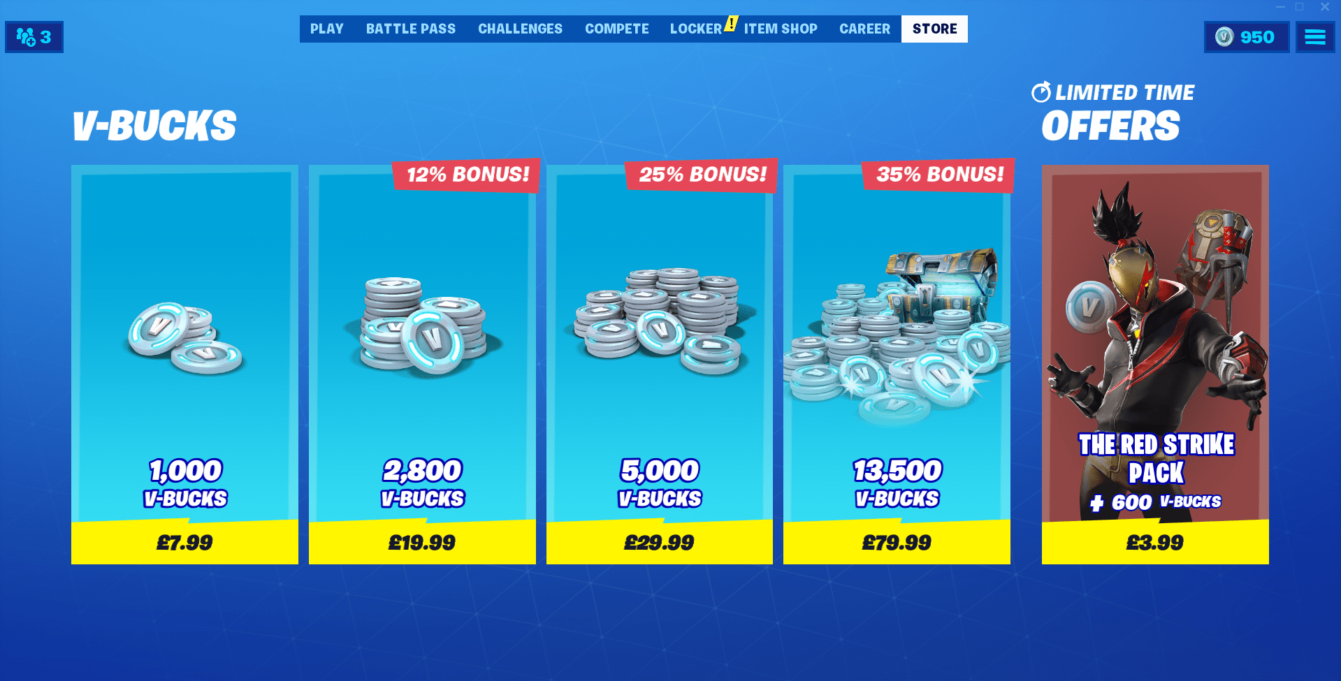 Fortnite Red Strike Pack is Now Available