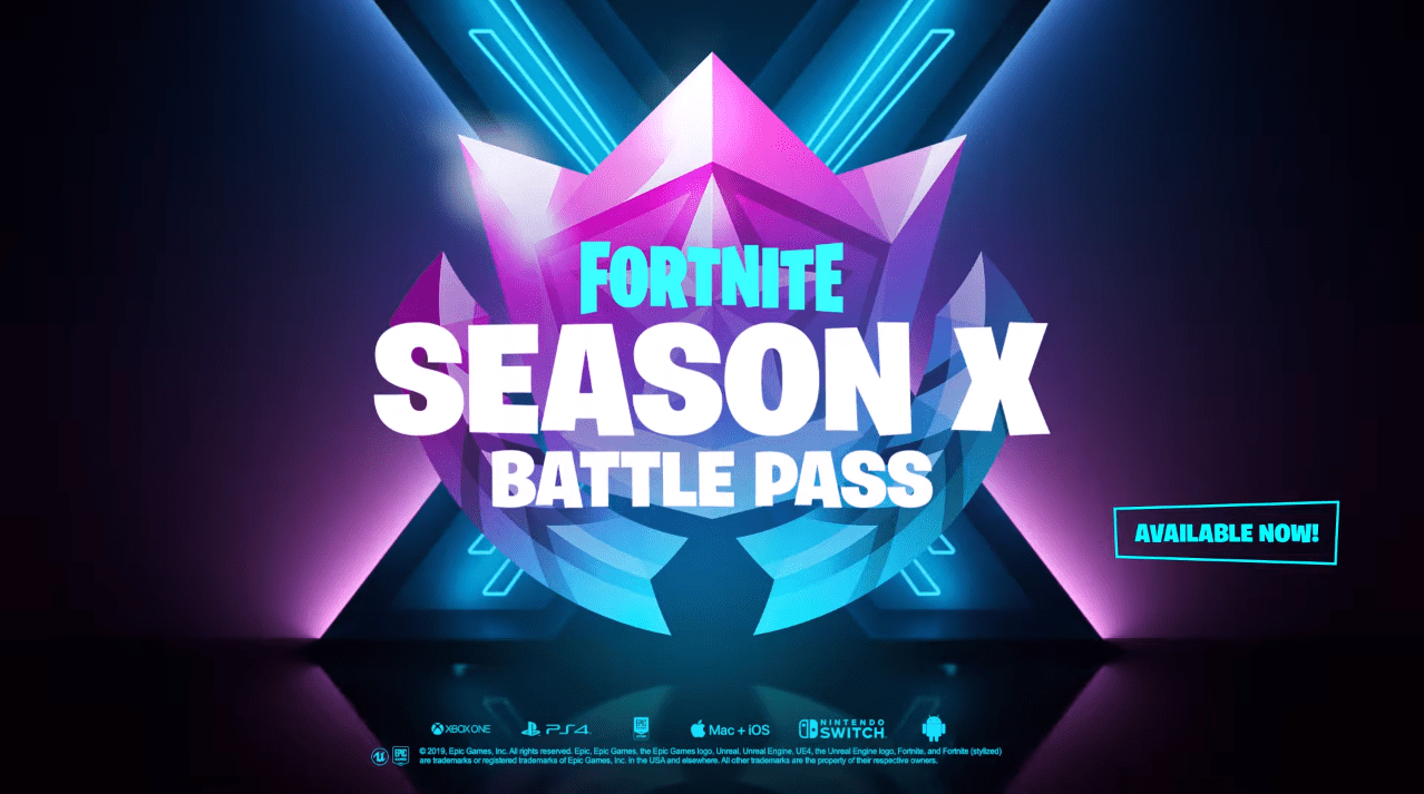 Fortnite Season X/10 Battle Pass Overview Video - Skins ...