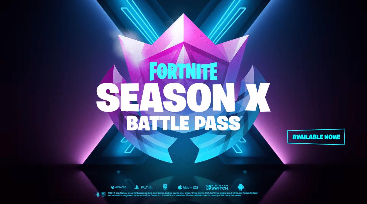Fortnite Season X10 Battle Pass Overview Video Skins