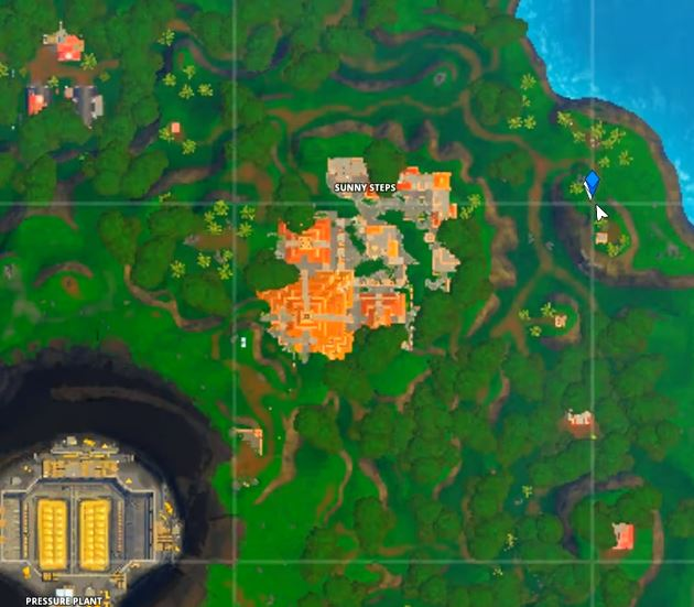 Fortnite Season X Week 4 Hidden Battle Star Location Guide Map