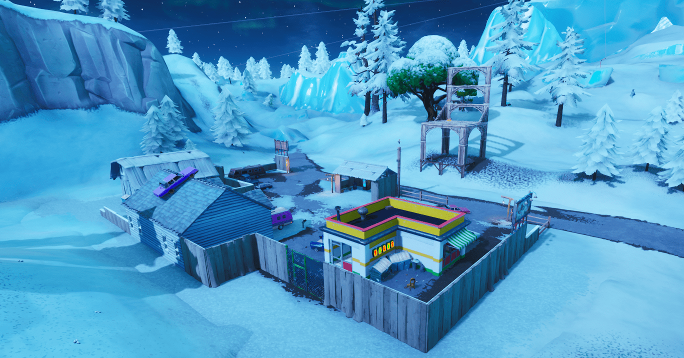 Fortnite Season X (v10.00) Map Changes - Chair Structure East of Polar Peak