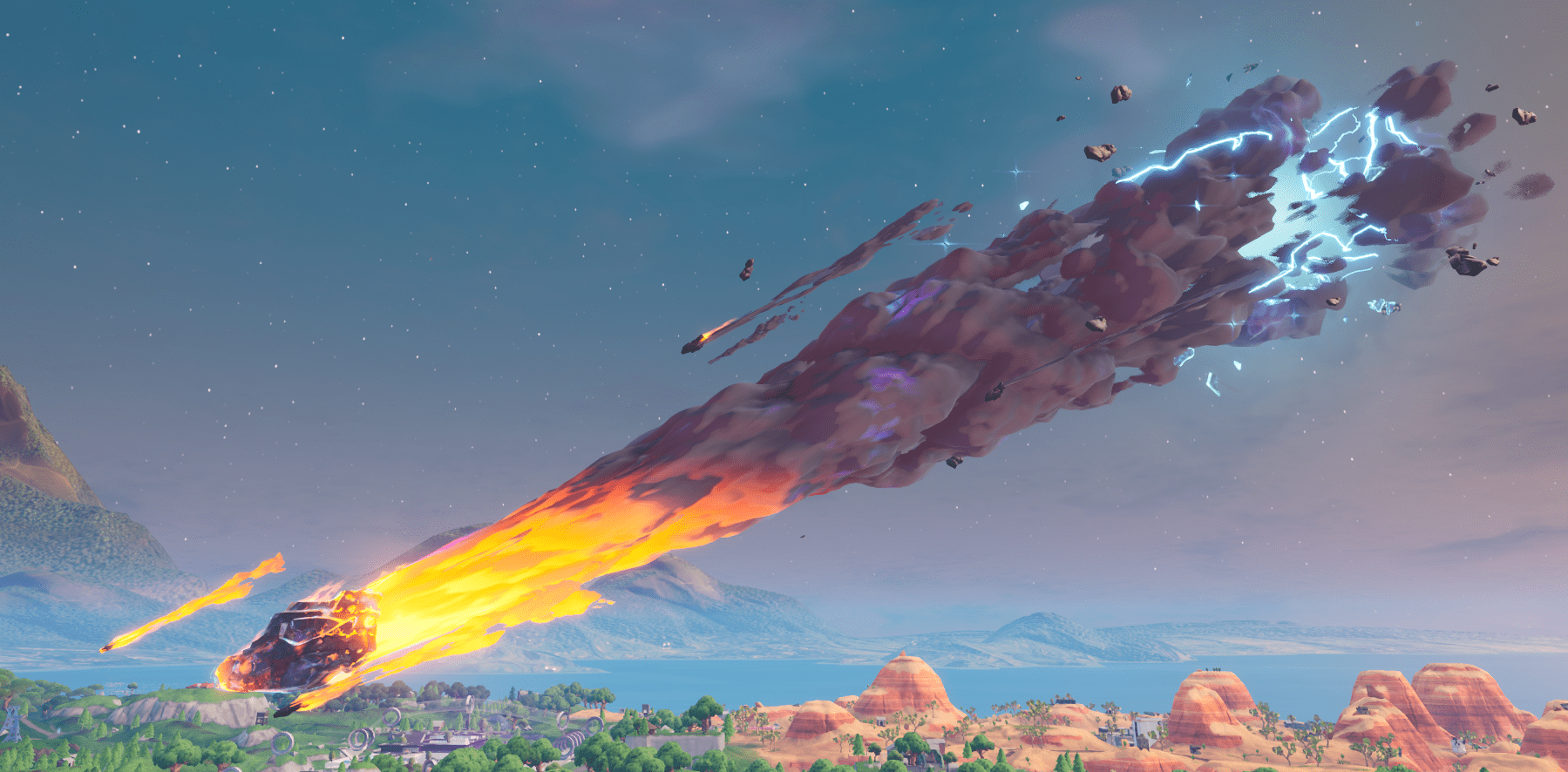 Fortnite Season X (v10.00) Map Changes - The Meteor