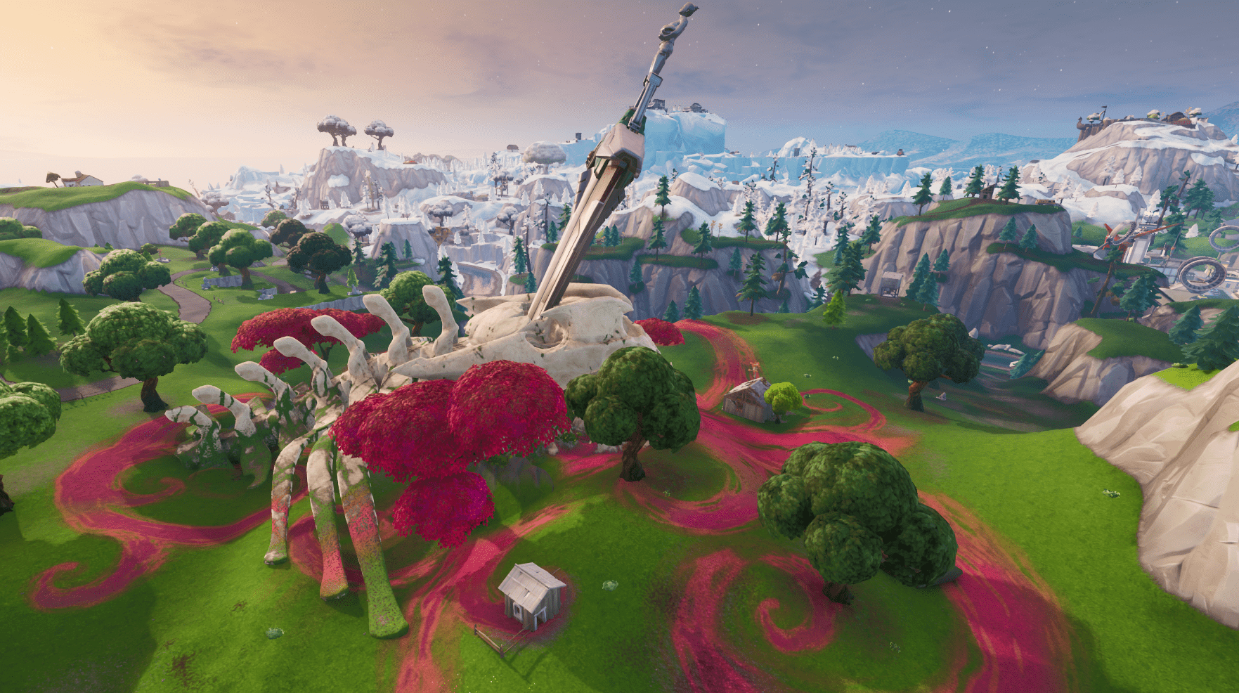 Fortnite Season X (v10.00) Map Changes - The Monster's Skeleton