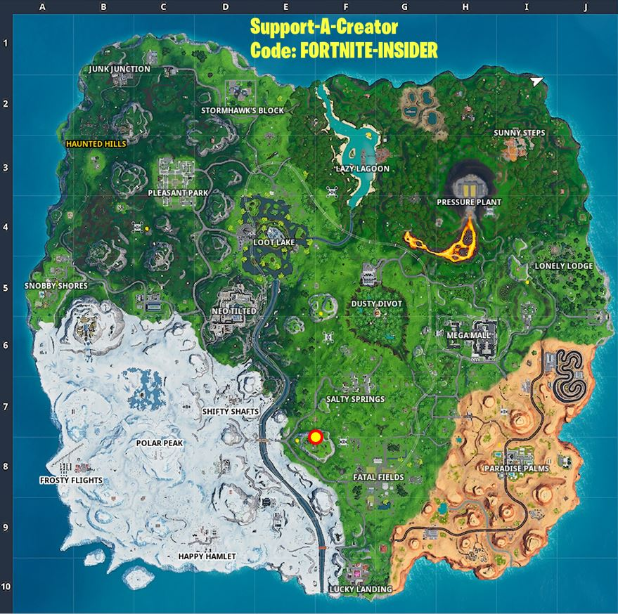 Fortnite Season X/10 Where to find Week 5 Hidden Secret