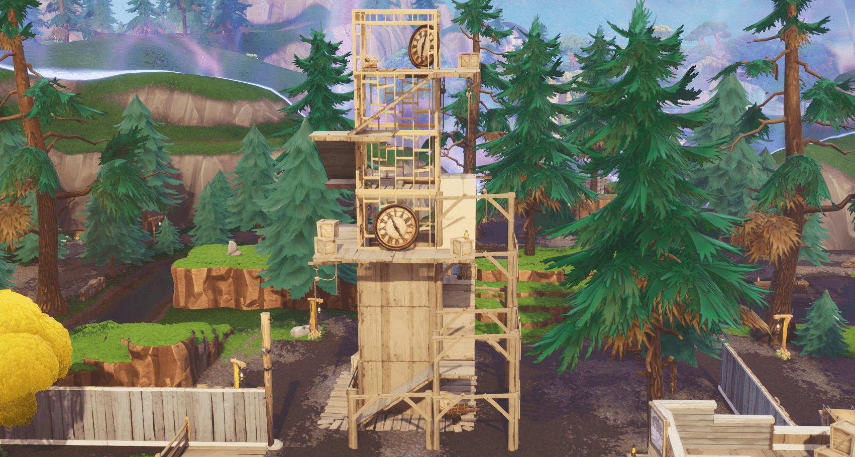 Fortnite v10.00 Content Update Map Changes - Tilted Town Clock Tower