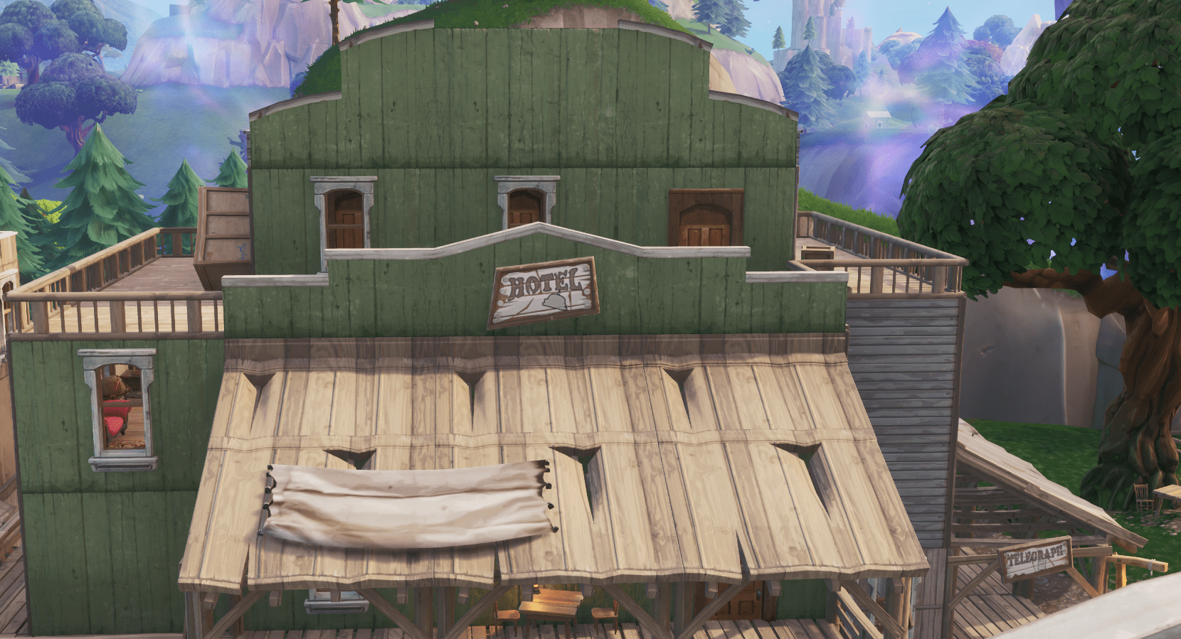 Fortnite v10.00 Content Update Map Changes - Tilted Town Hotel