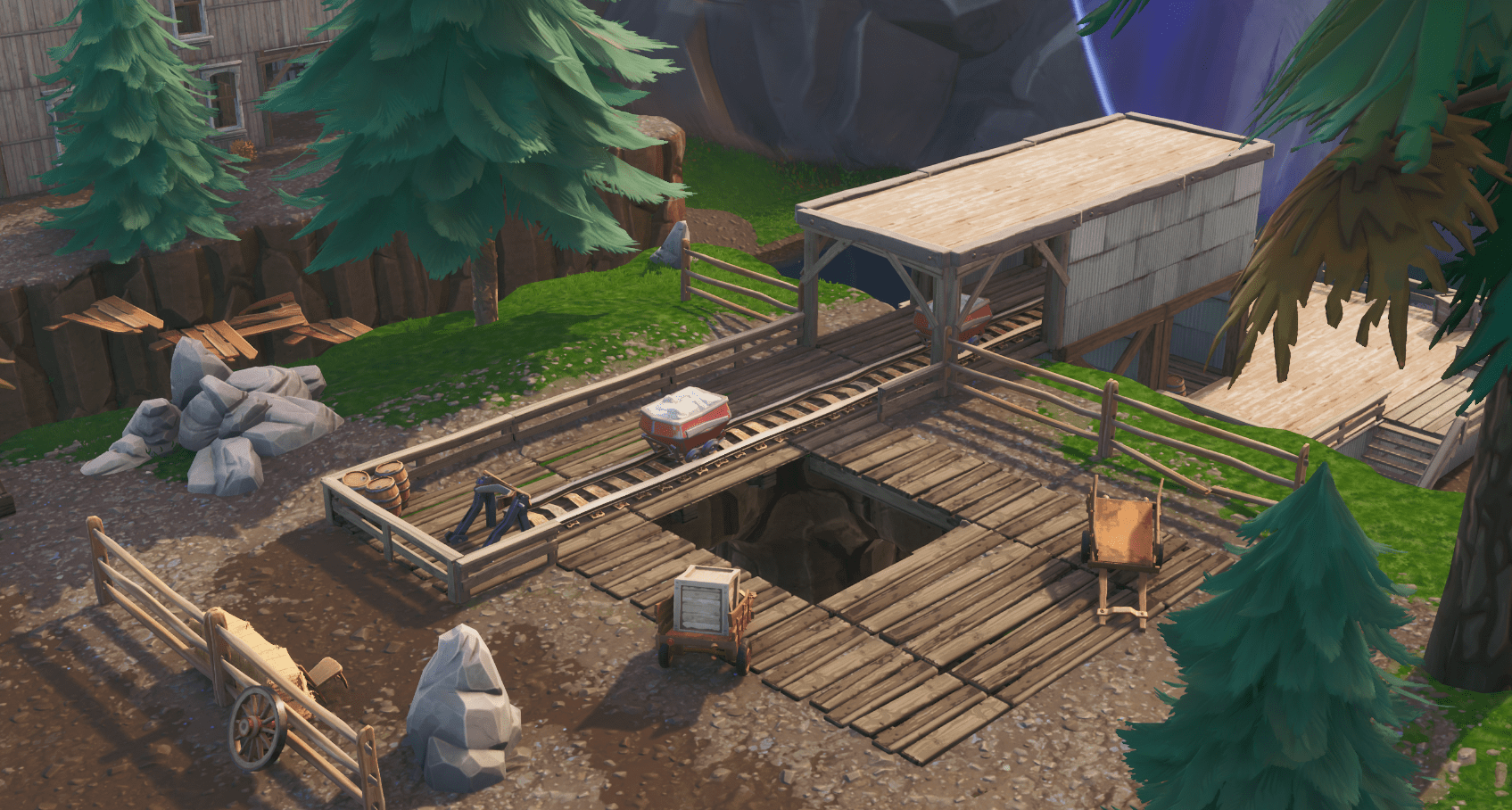 Fortnite v10.00 Content Update Map Changes - Tilted Town Mines