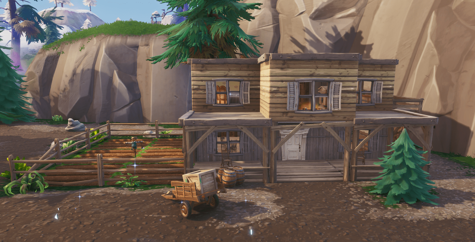 Fortnite v10.00 Content Update Map Changes - Tilted Town Misc House
