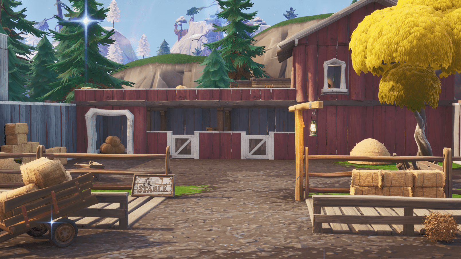 Fortnite v10.00 Content Update Map Changes - Tilted Town Stables