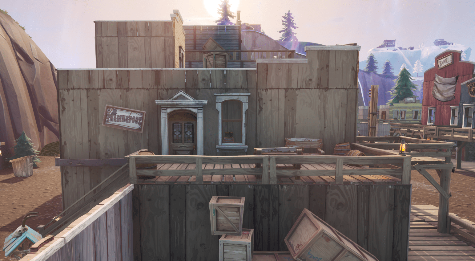 Fortnite v10.00 Content Update Map Changes - Tilted Town Trading Post