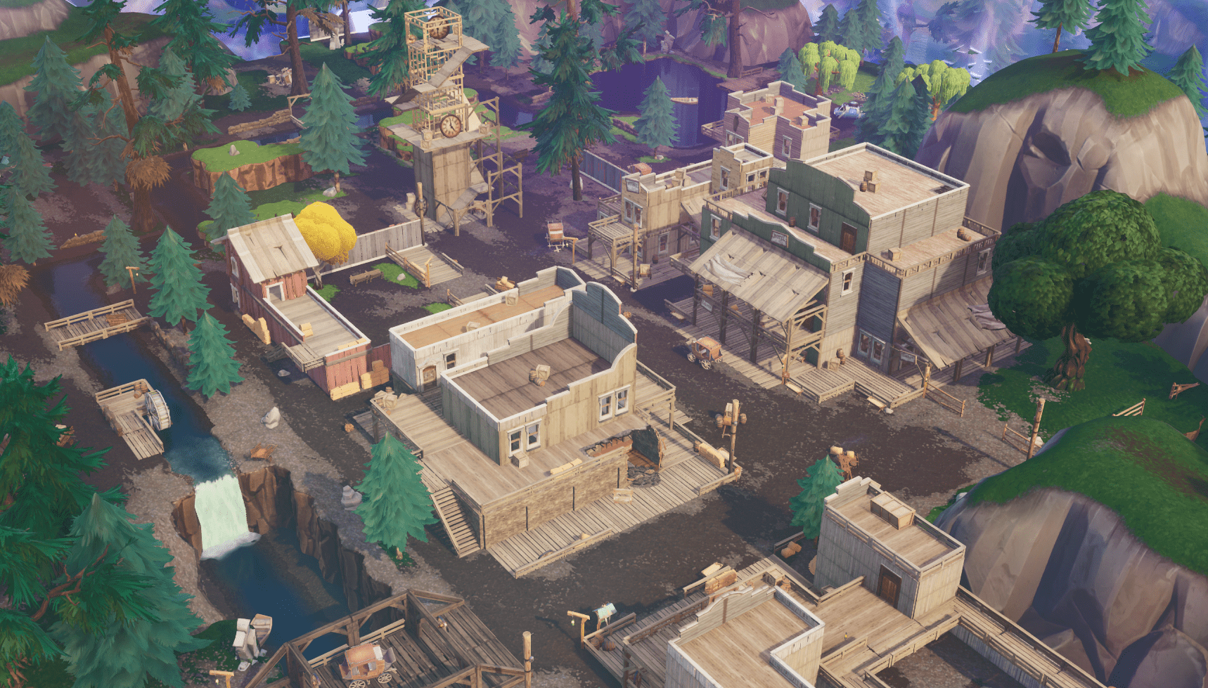 Fortnite v10.00 Content Update Map Changes - Tilted Town