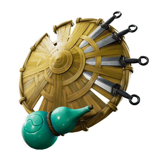 Fortnite v10.10 Leaked Back Bling - Kunai Shield