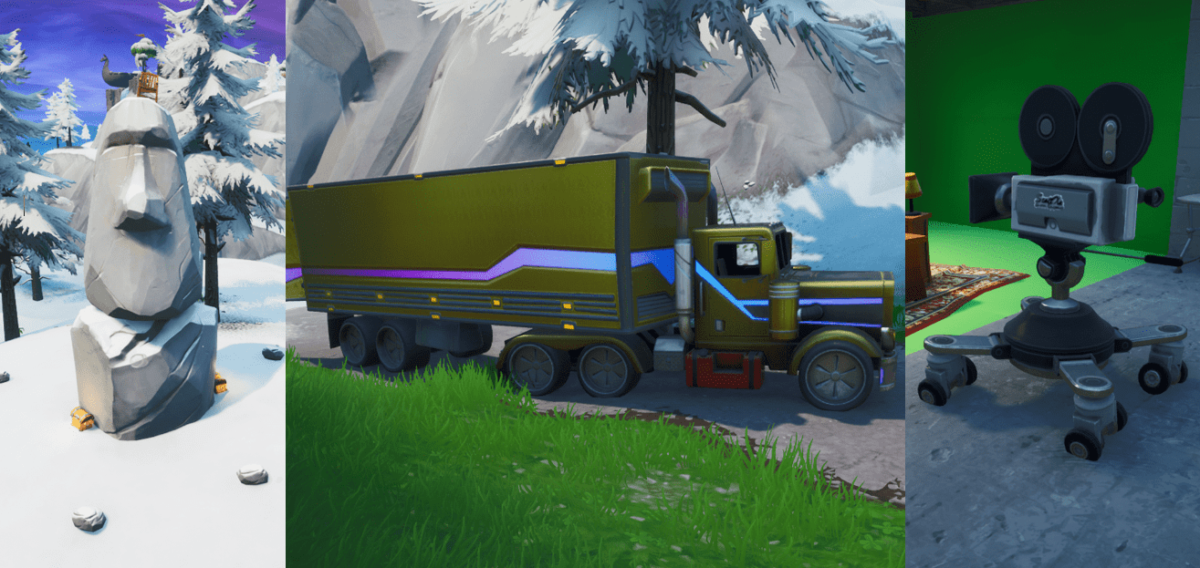 Map Of Film Camera Locations Fortnite Fortnite Locations How And Where To Complete Search Between A Basement Film Camera A Snowy Stone Head And A Flashy Gold Big Rig Fortnite Insider