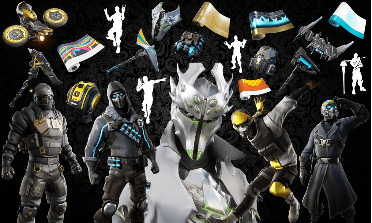 Names and Rarities of All Leaked Fortnite Cosmetics Found in v10.20 Files - Skins, Back Blings, Pickaxes, Gliders, Emotes Dances & Wraps