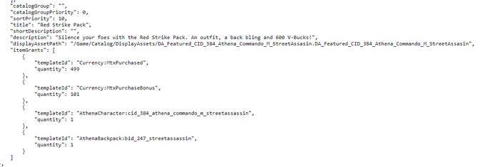 Red Strike Fortnite Starter Packet Leaked