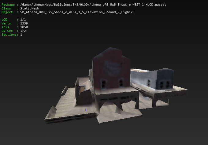 Tilted Town Building