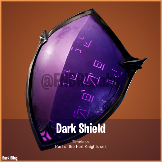 Fortnite Dark Shield Back Bling