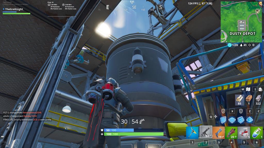 Fortnite dusty rocket depot stage 3