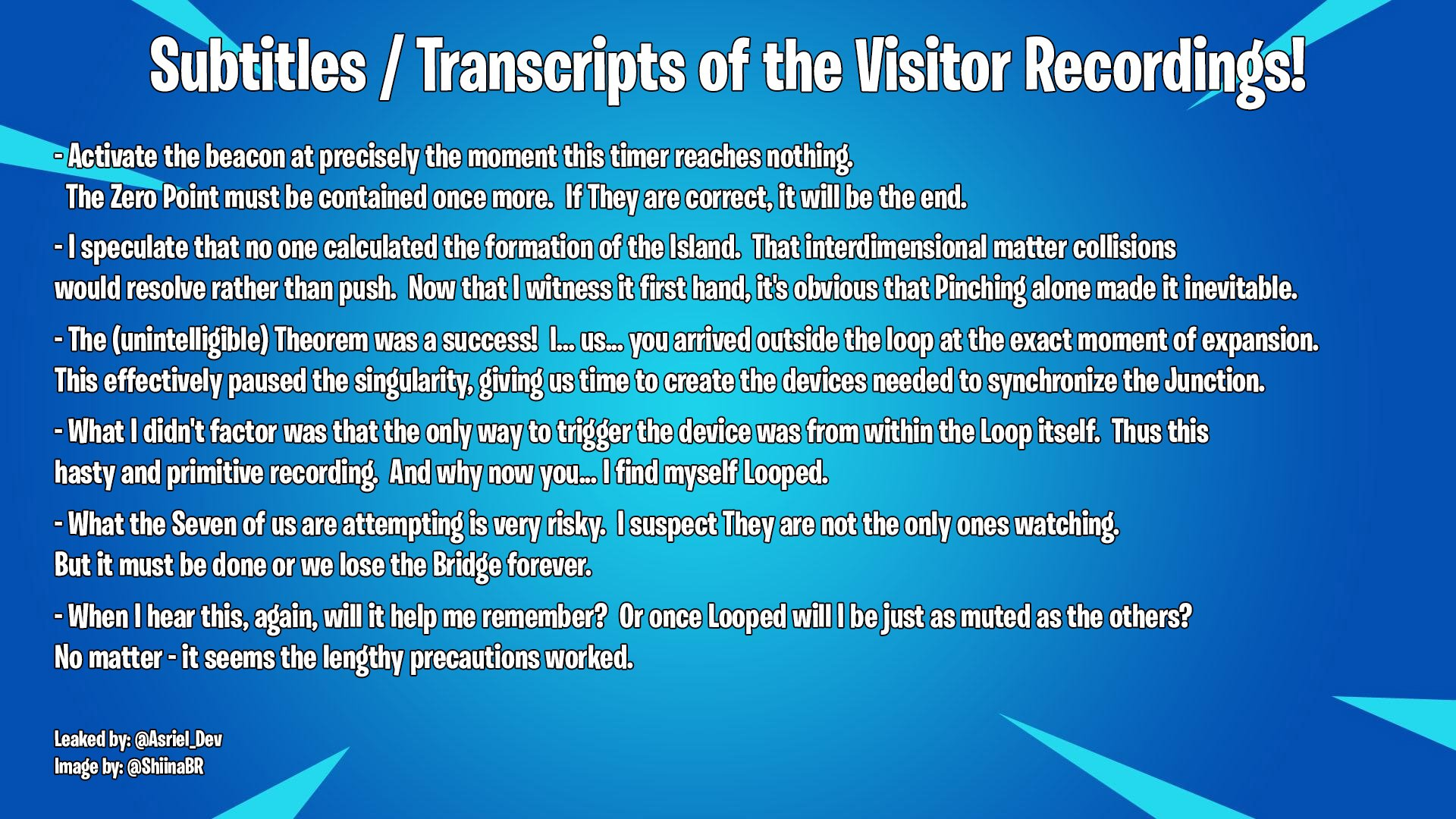 Fortnite Event Transcript