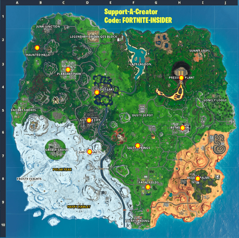 Fortnite Joker Gas Canister Map Locations