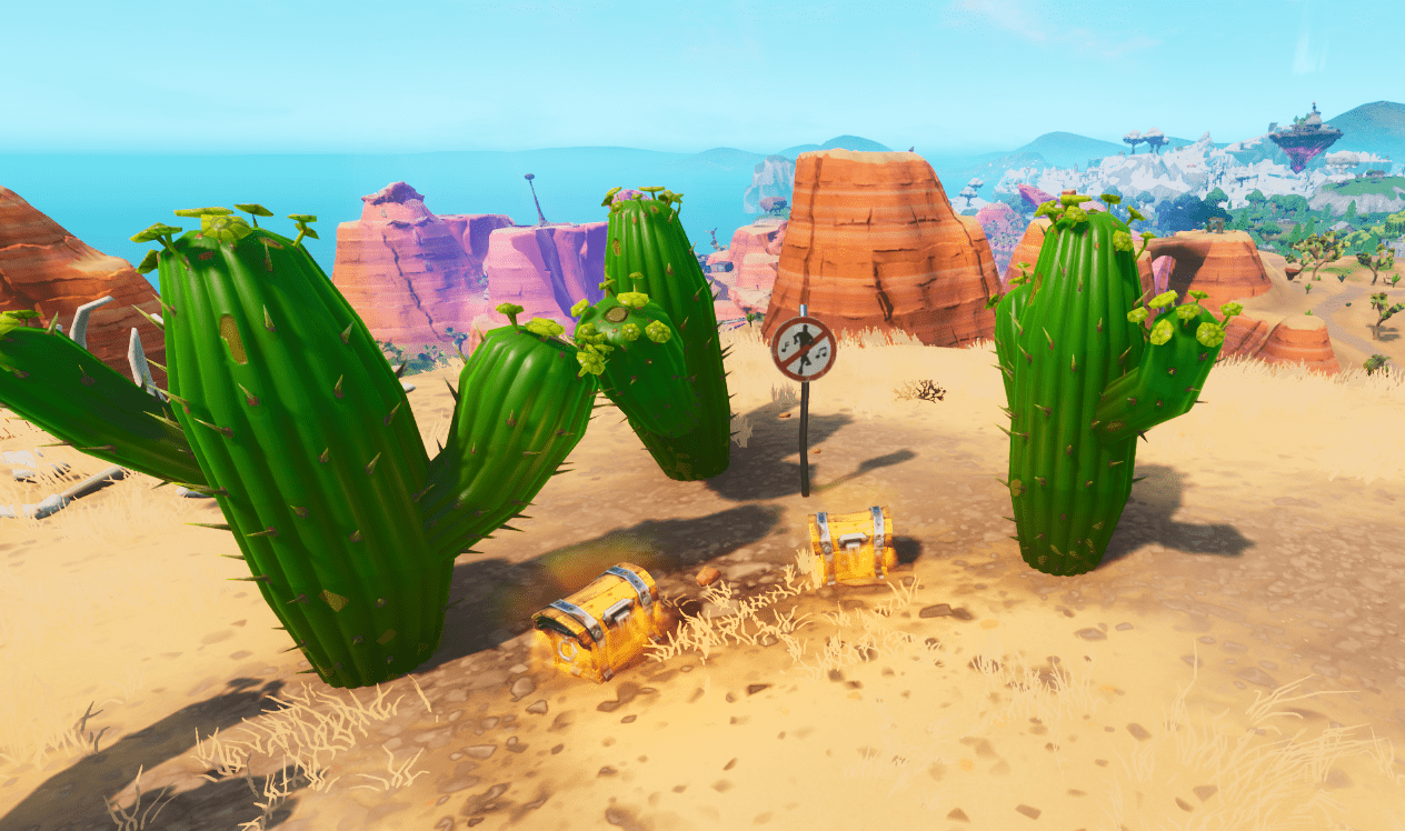 Fortnite No Dancing Sign Southeast of Paradise Palms