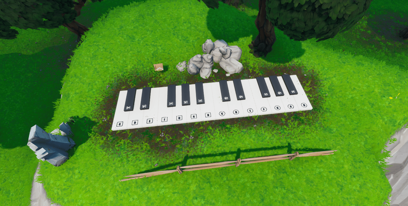 Fortnite Oversized Piano Location