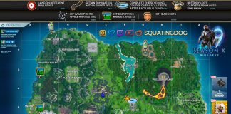 Fortnite Season 10 Week 9/10 The Bullseye Mission Cheat Sheet Map Location