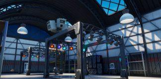 Fortnite icy airplane hanger disco ball