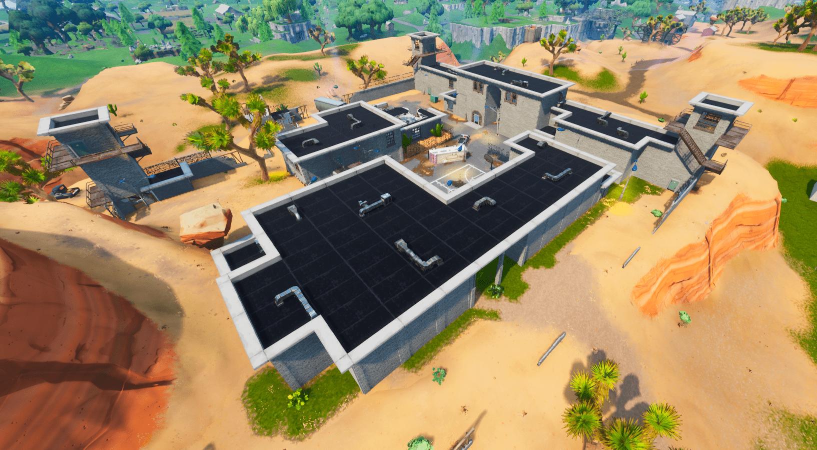 Fortnite v10.30 Map Changes - The Prison