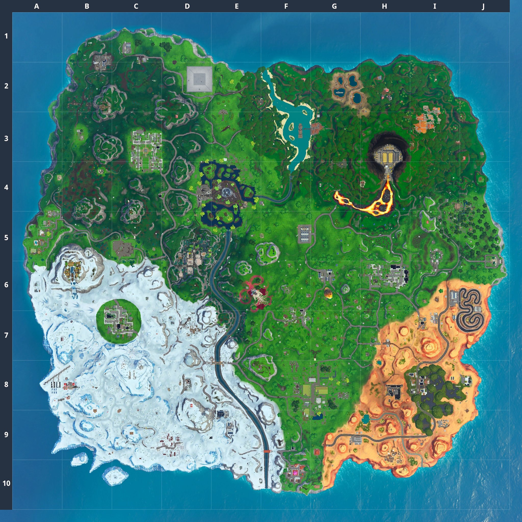 Fortnite v10.30 map