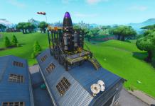 Fortnite v10.40 Map Changes - Dusty Depot Rocket Finished