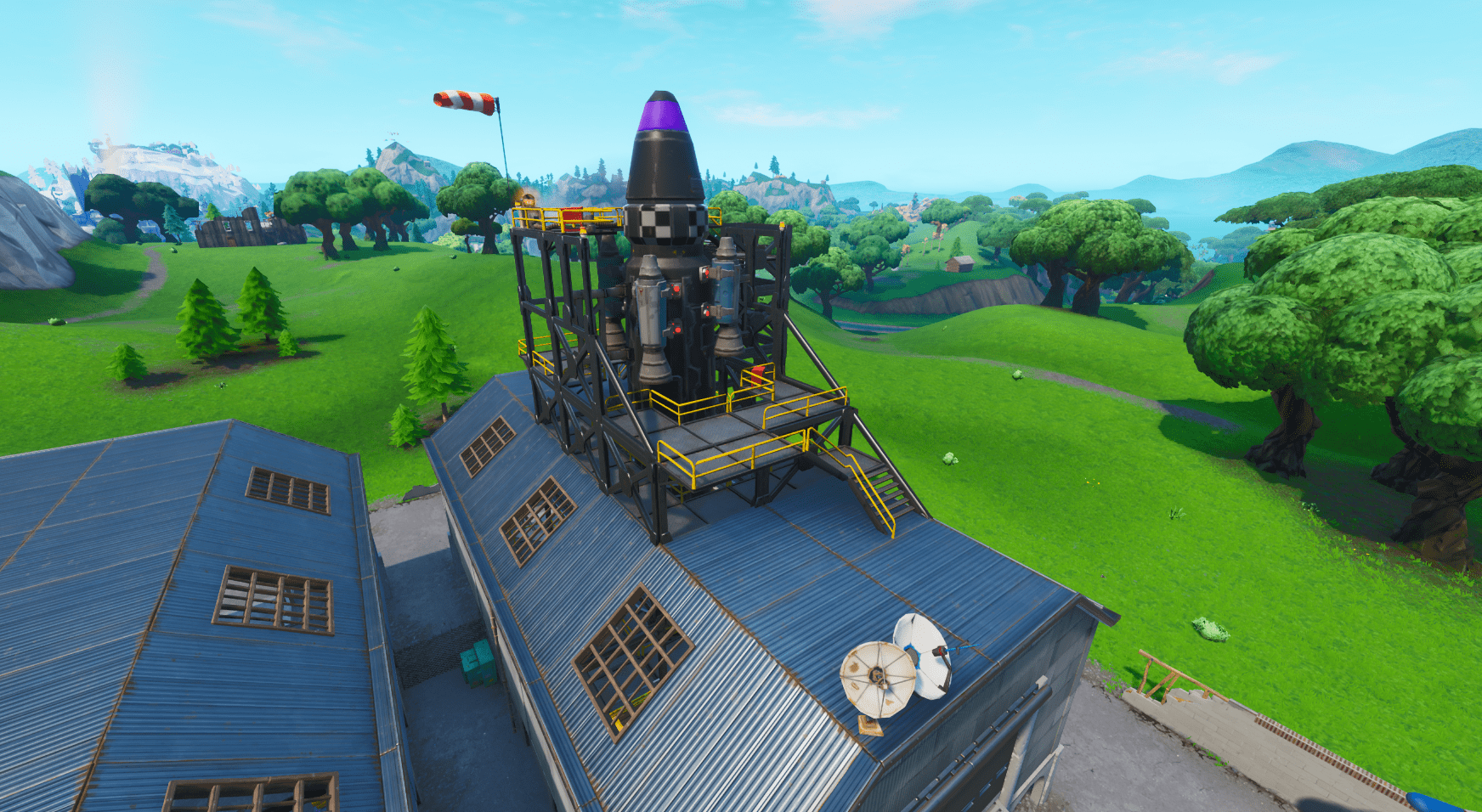 Fortnite v10.40 Map Changes - Dusty Depot Rocket Finished