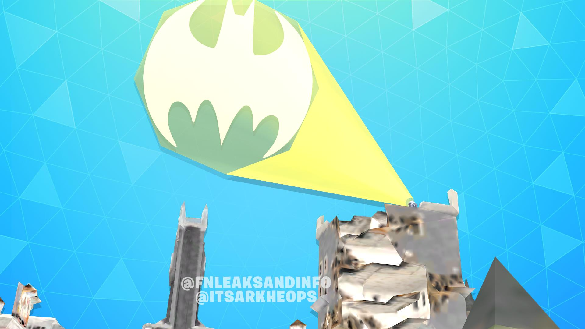 Fortnite x Batman Gotham City Leaked Batman Signal
