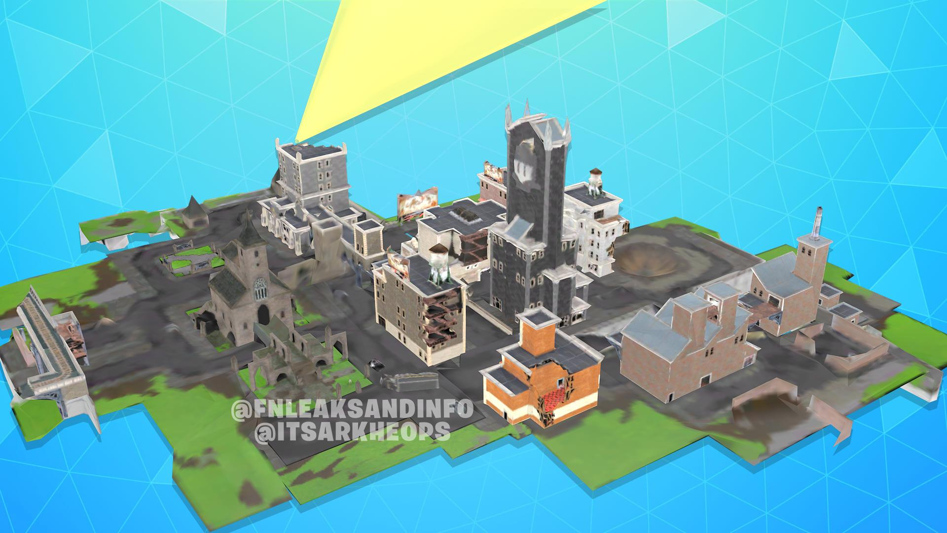 Fortnite x Batman Gotham City Leaked Buildings