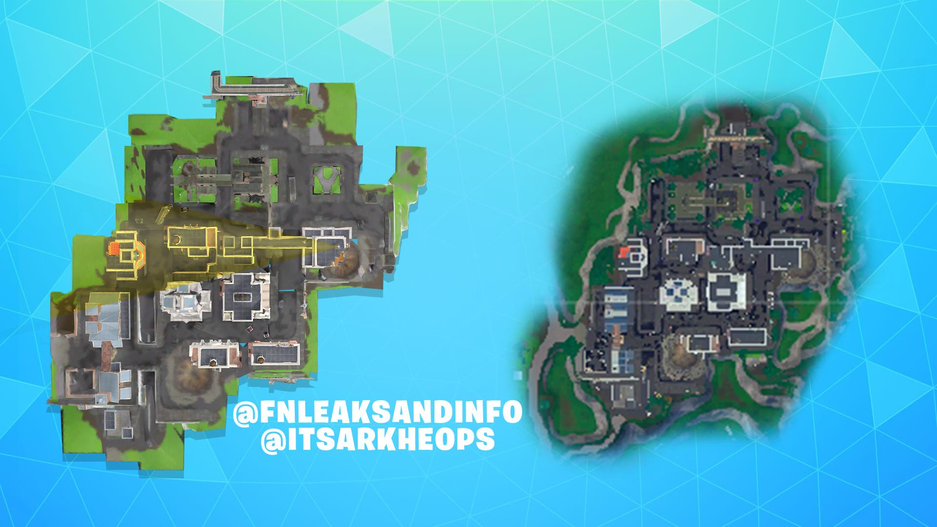 Fortnite x Batman Gotham City Leaked Map View