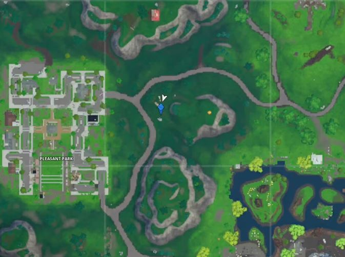 Time Trial East of Pleasant Park Location
