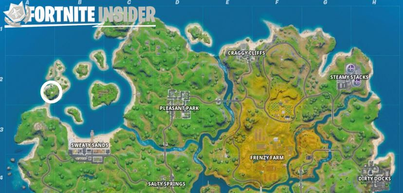 Coral Cove Fortnite Map Location