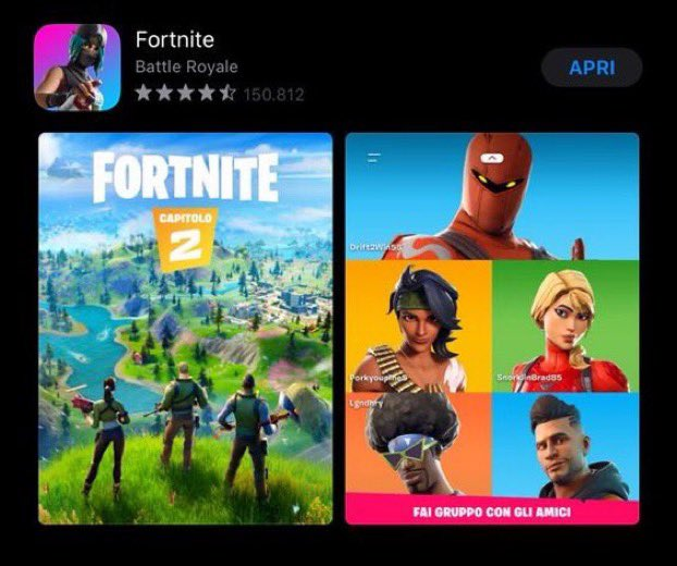 'Fortnite Chapter 2' apparently leaked by Italian Apple App Store