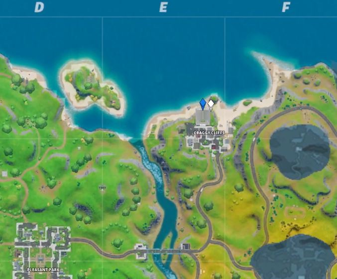 Fortnite Search hidden 'O' found in the Open Water Loading Screen map location