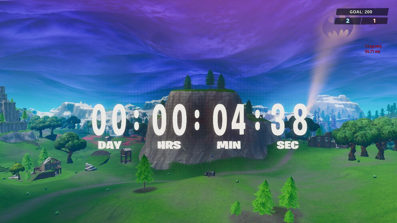 Fortnite Season 10 Event Countdown Timer