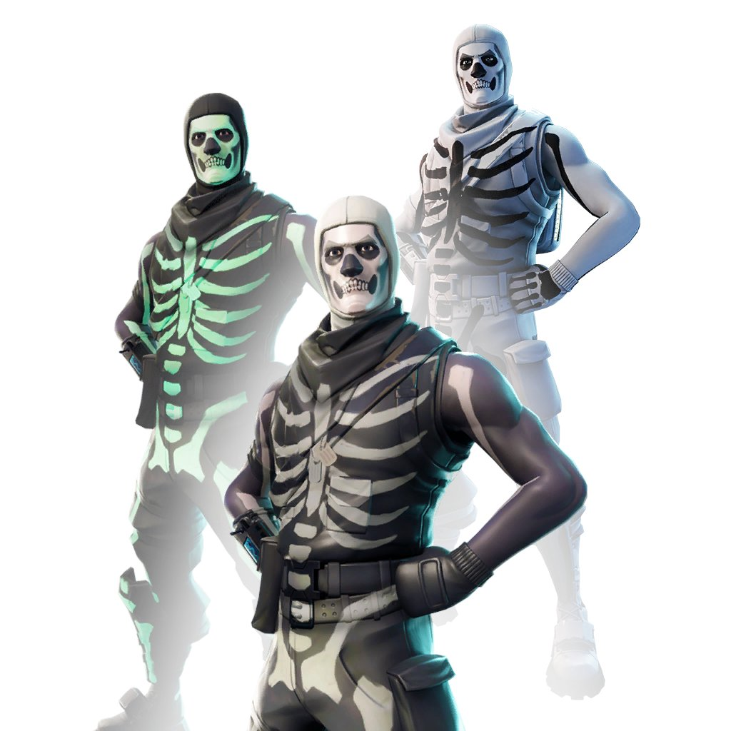 Fortnite Skull Trooper White Style Skin