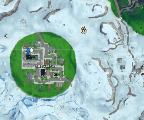 Fortnite Visitor Tape Recording at Greasy Grove Map Location