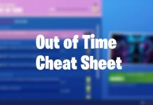 Season 10 Overtime out of time cheat sheet