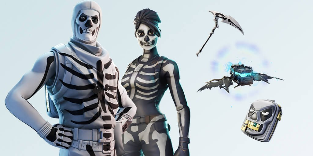 Skull Trooper and Skull Ranger new Fortnite skin styles