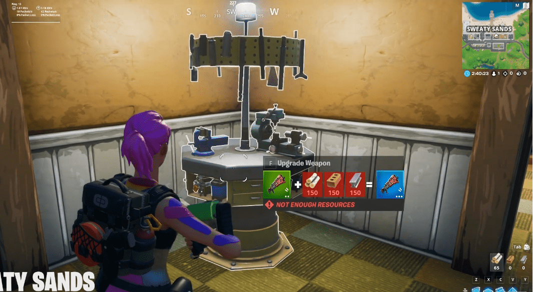 Fortnite How And Where To Upgrade An Item At A Weapon