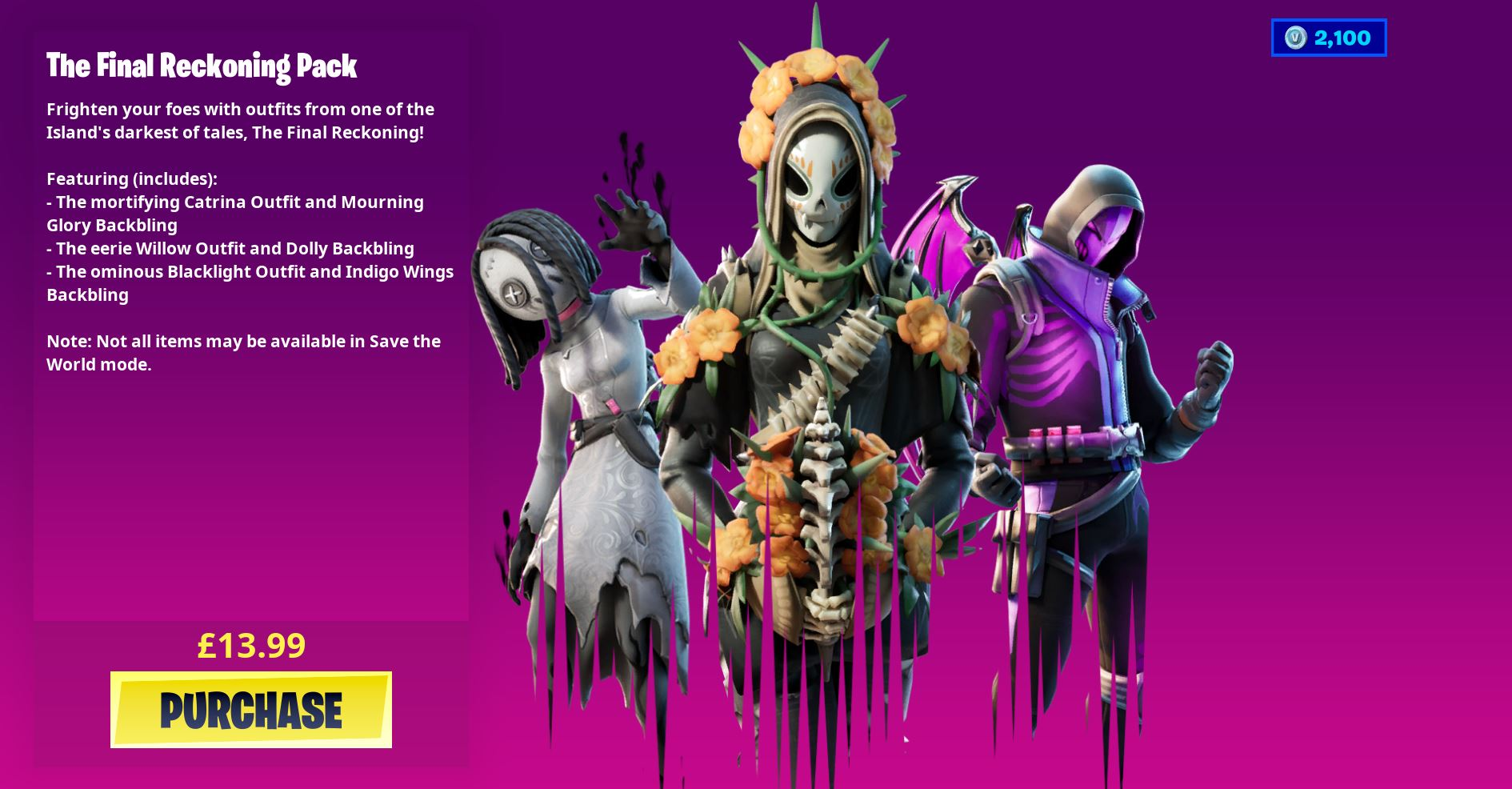 Fortnite The Final Reckoning Skins And Back Blings Pack