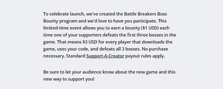 Battle Breakers Bounty Program